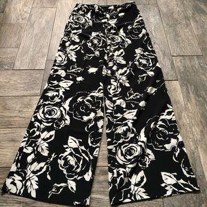 Ralph Lauren floral print wide leg pants